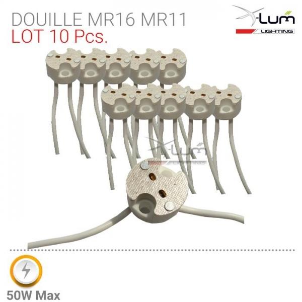 10 douilles MR16 / G4