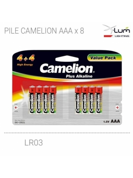 blister 8 piles AAA LR03 Camelion Fournisseur