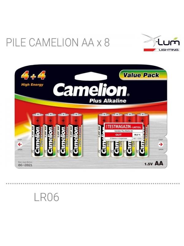 blister 8 piles AA LR06 Camelion Fournisseur