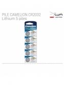5 piles CR2032 Lithium camelion Fournisseur