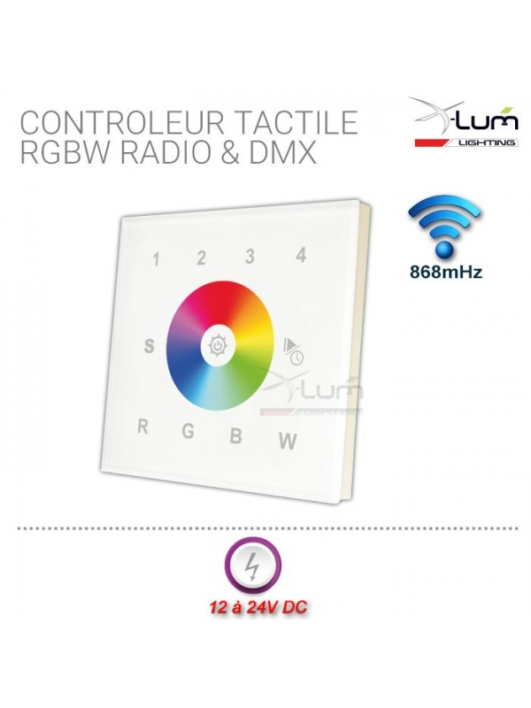 contrôleur tactile led rgbw rf X-Lum-Lighting Led Eco First