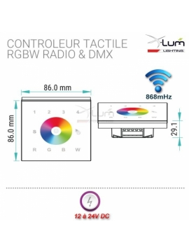Contrôleur tactile RGBW mural pro Led Eco First