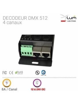 Décodeur dmx 512 4 canaux RGBW Pro X-Lum-Lighting