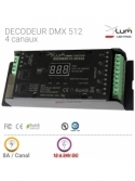 Décodeur dmx 512 pour ruban led rgb Pro