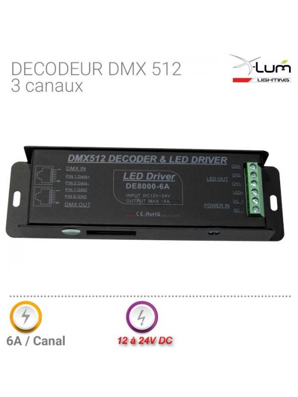 Décodeur DMX 3 canaux RGB LED