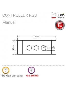 Contrôleur RGB potentiomètre manuel