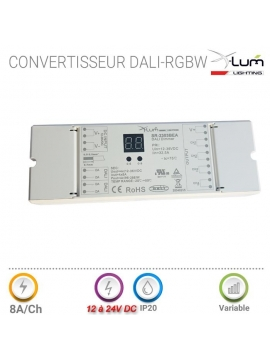 Convertisseur dali RGBW tension fixe