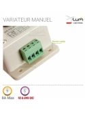 Variateur LED potentiomètre pwm 12v 24V 8A